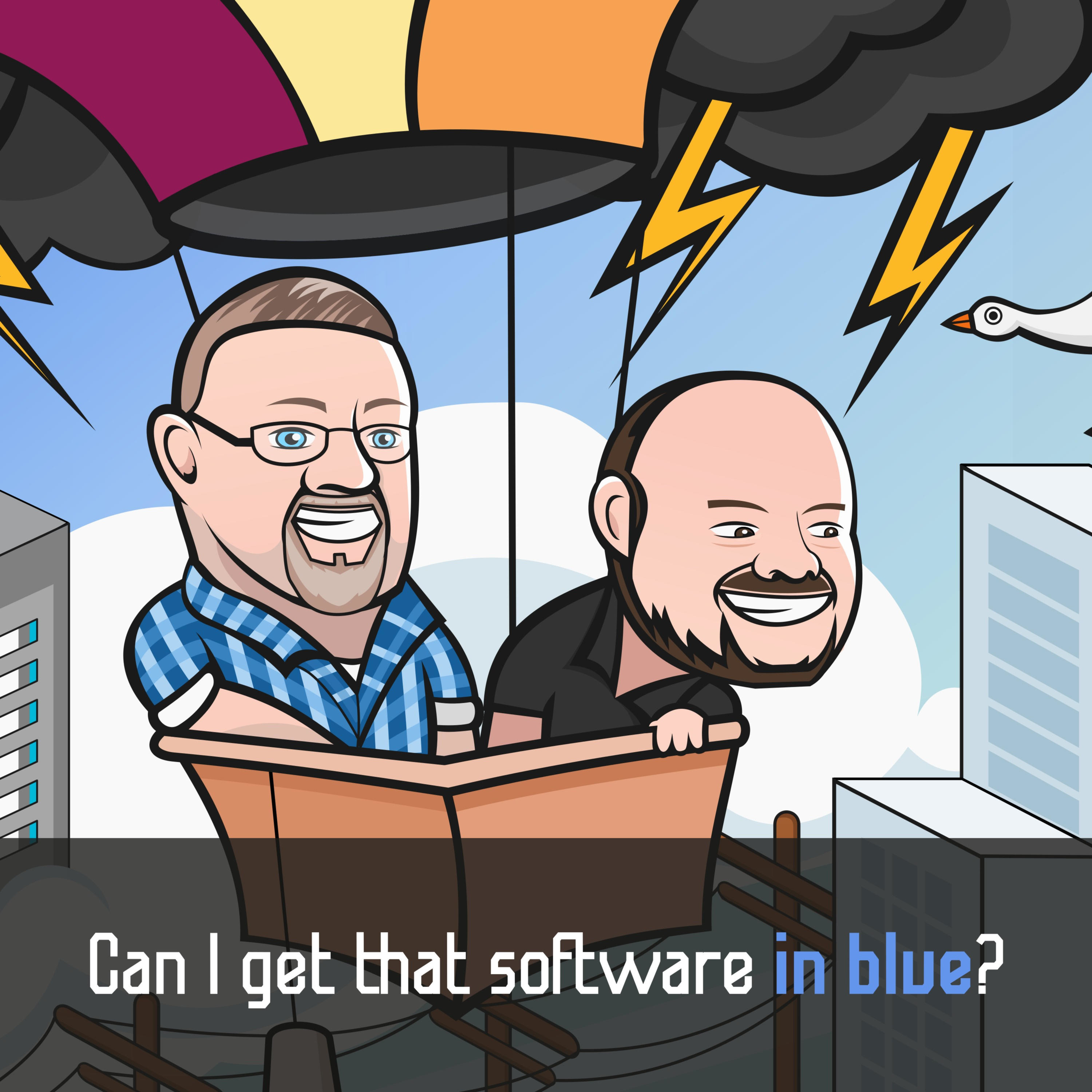 Can I get that software in blue?